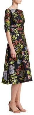 Lela Rose Floral Full Skirt Dress