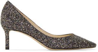 Jimmy Choo Multicolor Glitter Romy 60 Heels