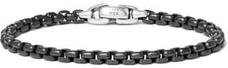 David Yurman Blackened Sterling Silver Chain Bracelet