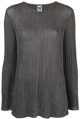 M Missoni longsleeved metallic sheen blouse