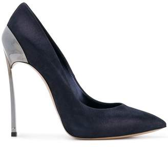 Casadei Blade metallic pumps