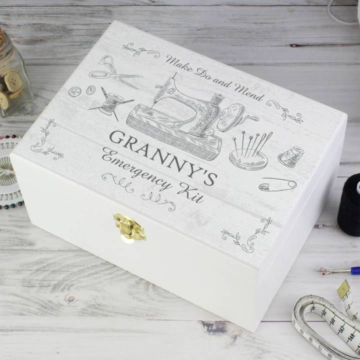 Sassy Bloom As seen on TV Personalised Wooden Sewing Box
