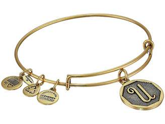 Alex and Ani Initial U Charm Bangle