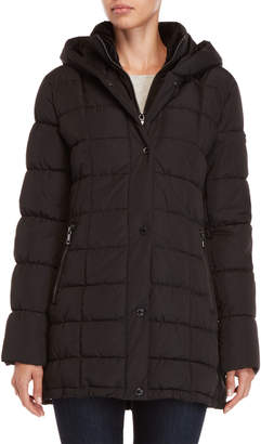 Calvin Klein Hooded Quilted Bib Coat