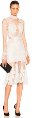 JONATHAN SIMKHAI Linear Dome Lace Dress $1,695 thestylecure.com