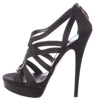 Casadei Satin Caged Sandals