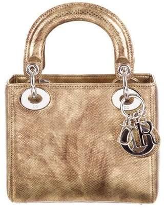 704b5f1c89760 Christian Dior Lizard Micro Lady Bag