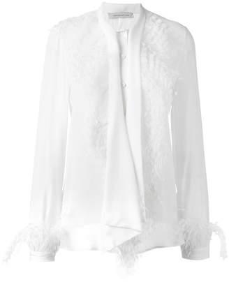 Christopher Kane feather trim shirt