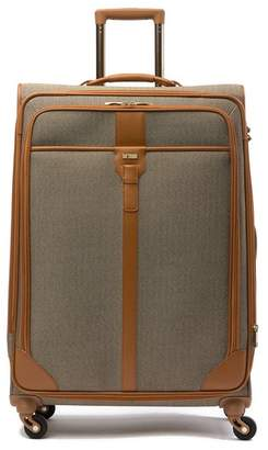 "Hartmann Herringbone Leather Trimmed 30"" Expandable Spinner"