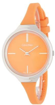 Calvin Klein Women's Lively Silicone Strap Watch, 34mm