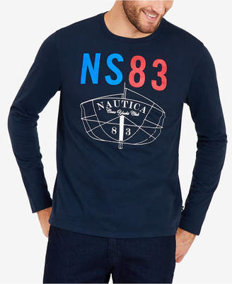 Nautica Men's Long-Sleeve Graphic T-Shirt