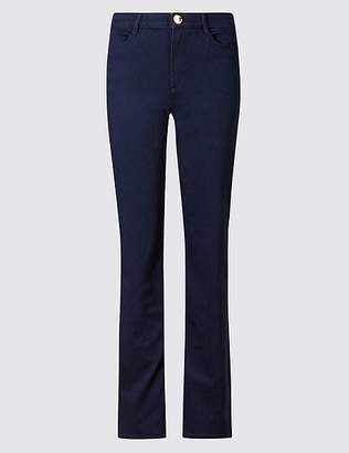 Marks and Spencer Sateen Roma Rise Straight Leg Jeans