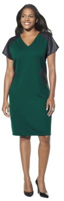 Mossimo Women's Plus-Size Cap-Sleeve Ponte Dress - Assorted Colors