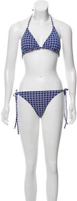 Melissa Odabash Printed Two-Piece Swimsuit w/ Tags