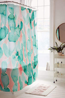 Deny Designs Jacqueline Maldonado For Deny Paddle Cactus Shower Curtain