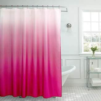 Creative Home Ideas Ombre Textured Shower Curtain with Beaded Rings