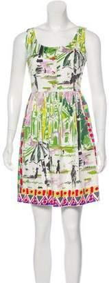 Prada Printed Sleeveless Mini Dress