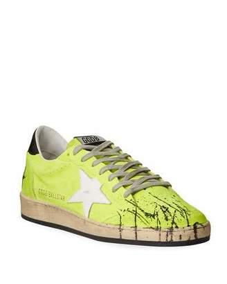 Golden Goose Men's Ball Star Splatter Suede Sneakers