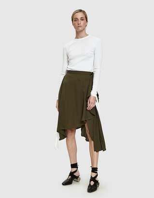 J.W.Anderson Georgette Wrap Skirt