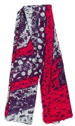 Diane von Furstenberg Woven Printed Scarf Purple Woven Printed Scarf