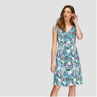 Joe Fresh Women's Print Tie Shoulder Dress