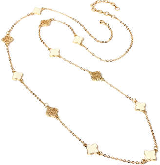 Amrita Singh Clover Enamel 37In Station Necklace