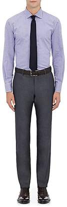 Barneys New York MEN'S CHECKED COTTON DRESS SHIRT - LT. BLUE SIZE 15 L