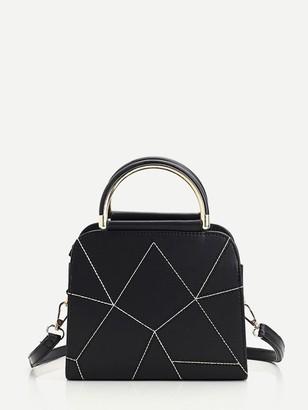 Shein Geometric Design PU Handbag With Strap