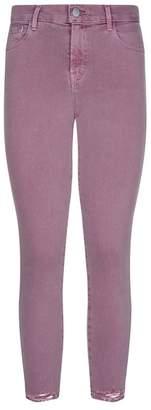 J Brand 835 Distressed Crop Skinny Jeans
