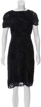 L'Agence Short Sleeve Knee-Length Dress
