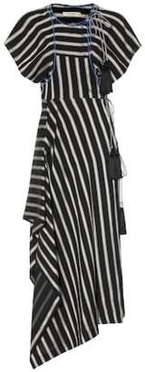 Etro Striped asymmetric dress
