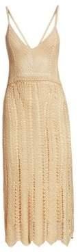 Ralph Lauren Collection Blonde Silk Cami Crochet Dress