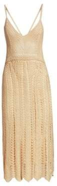 Ralph Lauren Blonde Silk Cami Crochet Dress
