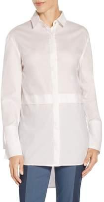 St. John Solid Stretch Shirting Tunic