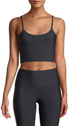 Spiritual Gangster Practice Cropped Side-Stripe Cami