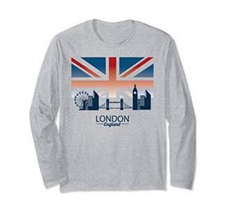 Elegant London City Skyline Union Jack England T-Shirt