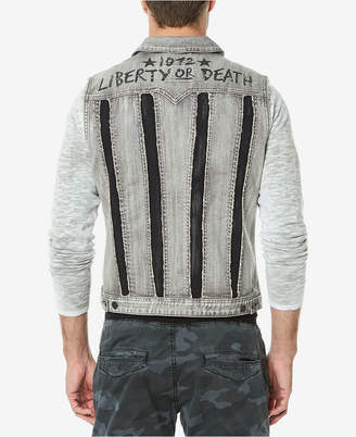 Buffalo David Bitton Men's Two-Tone Denim Vest