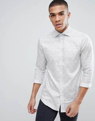 Esprit Slim Fit Shirt With All Over Paisley Shirt