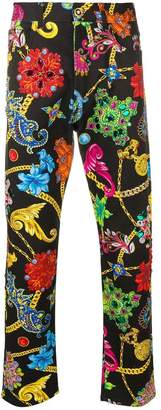 Versace Gioelleria Jetés print jeans