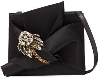 No.21 No. 21 Jeweled Satin Bow Shoulder Bag
