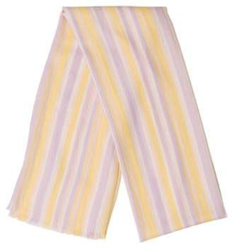 Loro Piana Cashmere & Silk-Blend Striped Scarf Yellow Cashmere & Silk-Blend Striped Scarf