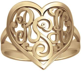 FINE JEWELRY Personalized 18mm Script Monogram Heart Ring
