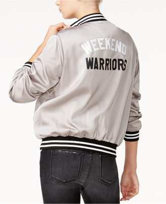 Sub_Urban Riot Weekend Warriors Graphic Bomber Jacket $98 thestylecure.com