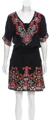 Yoana Baraschi Embroidered Knee-Length Dress