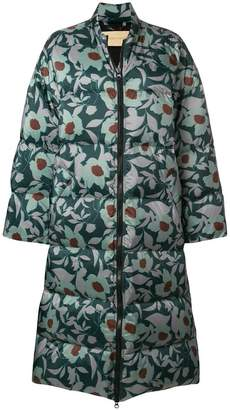 Christian Wijnants oversized floral print puffer coat