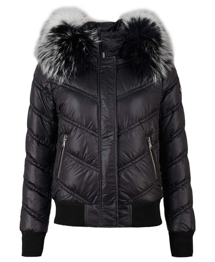 Froccella Fur Trim Bomber Jacket