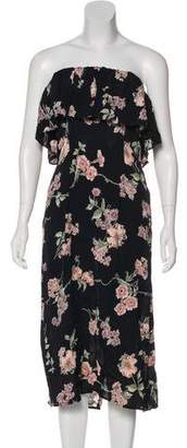 Flynn Skye Strapless Floral Print Dress