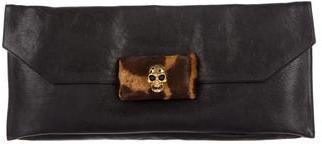 Alexander McQueenAlexander McQueen Ponyhair-Trimmed Skull Clutch