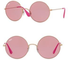 Ray-Ban The Ja-Jo Round Sunglasses $140 thestylecure.com