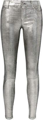 RtA Metallic Leather Jeans